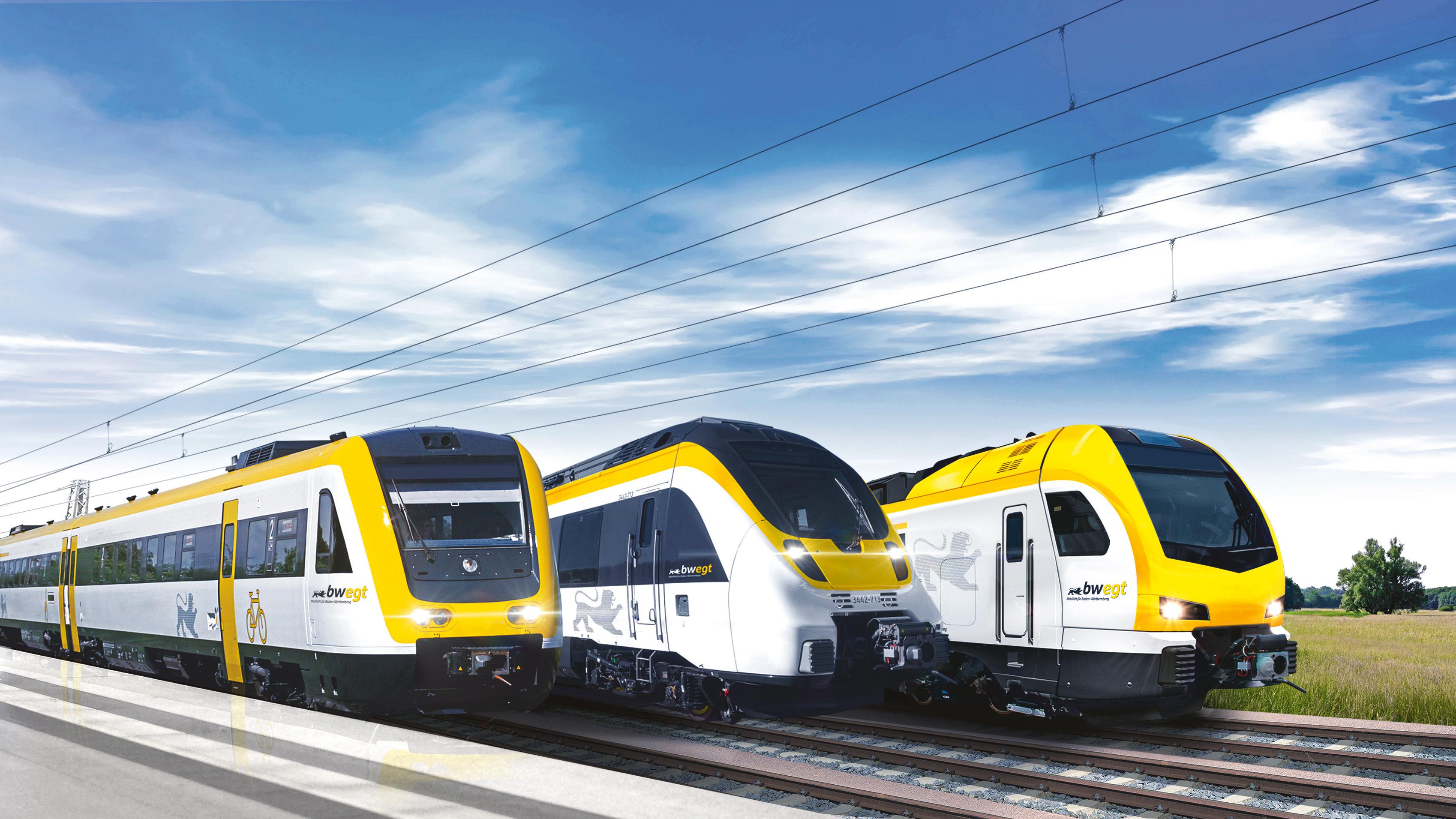 Zug-Flotte der NVBW